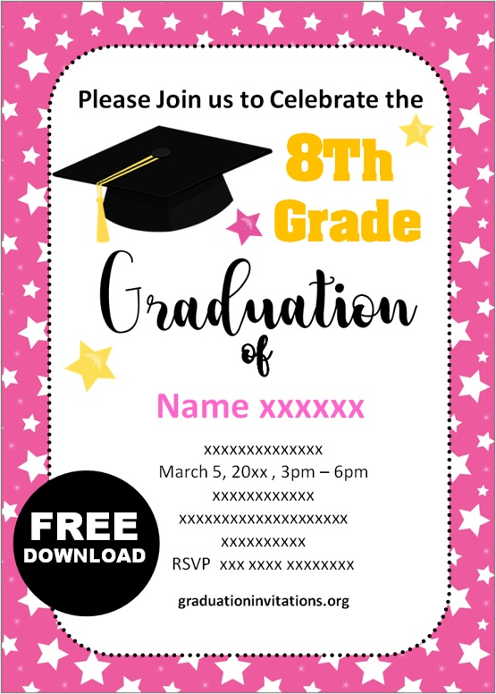 8th grade graduation invitations ideas