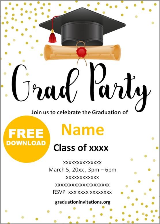college graduation invitations