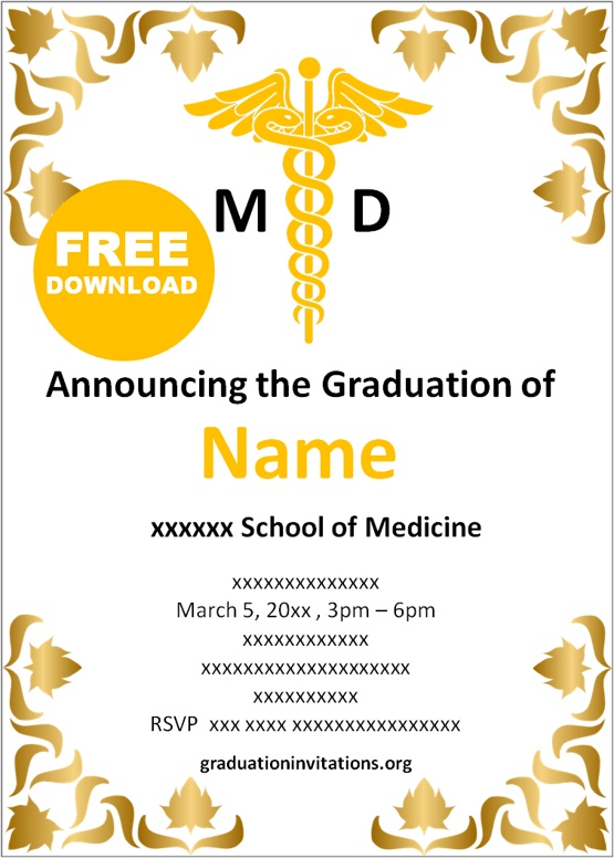 Doctor graduation invitations