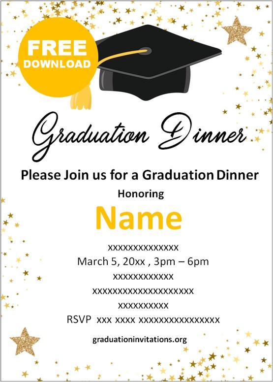 graduation dinner invitations