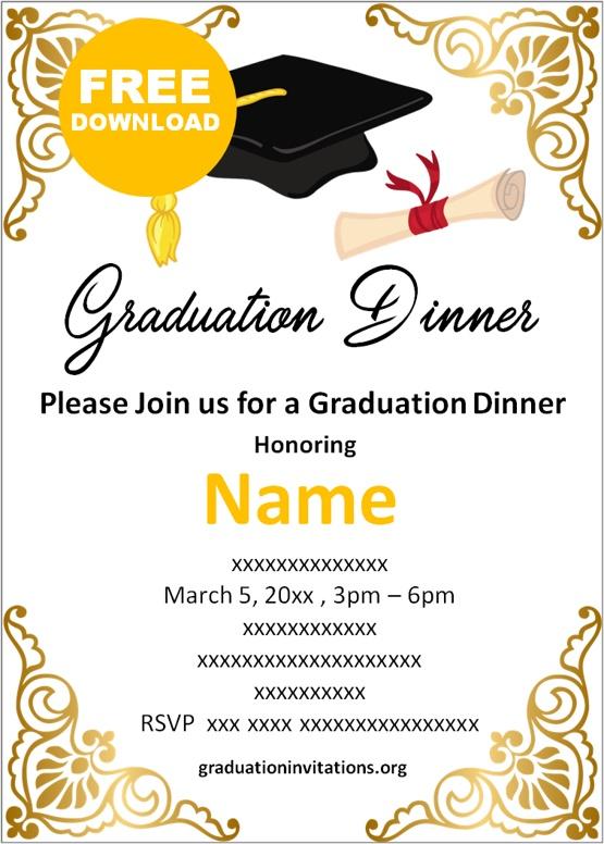 dinner graduation invitations