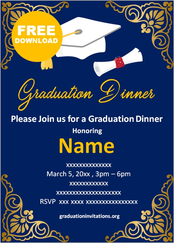 free printable graduation invitations