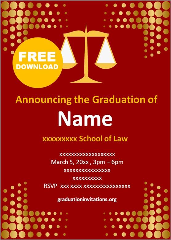 online Law graduation invitations