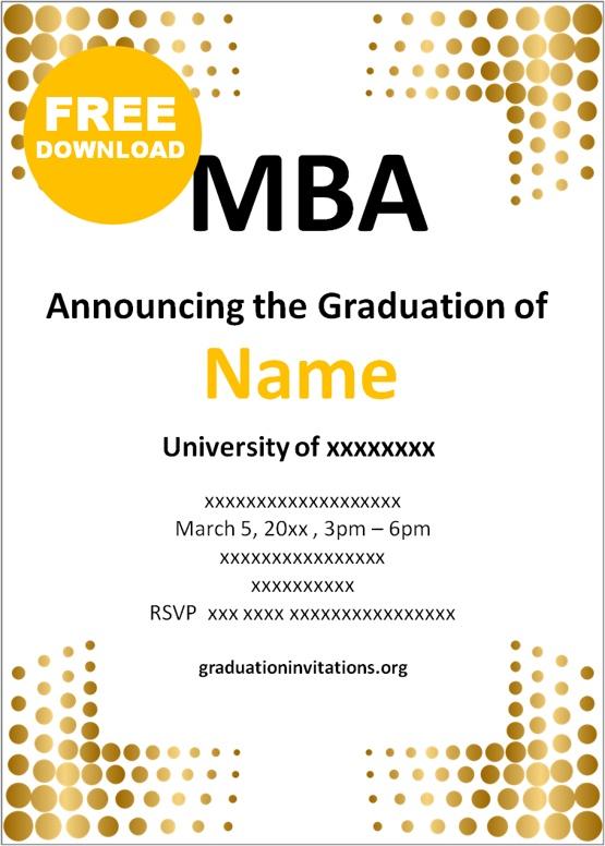 MBA graduation invitations