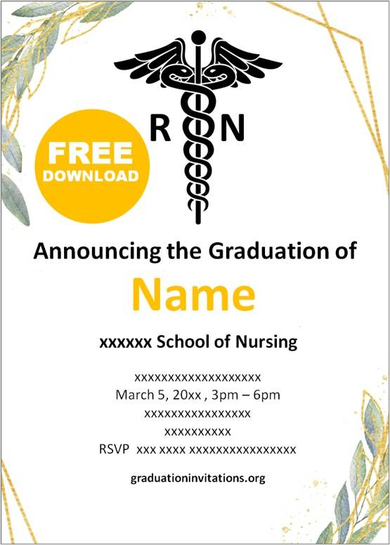 nursing graduation invitations