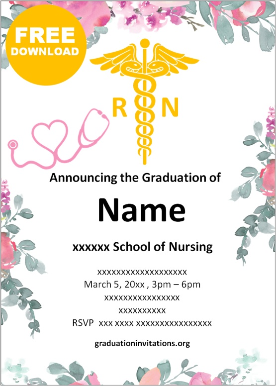 Free Printable Nursing Graduation