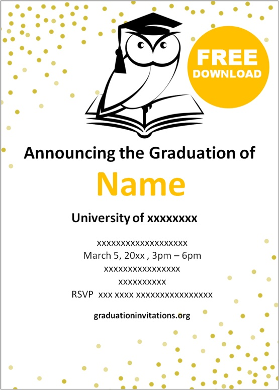 Pedagogy graduation party invitations